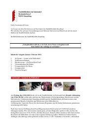 Newsletter Januar Februar 2012 - Stadtbibliothek Straubing