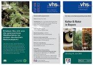 Kultur & Natur in Bayern - Volkshochschule Freyung-Grafenau