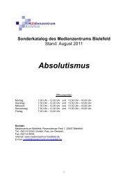 Absolutismus - Medienzentrum Bielefeld