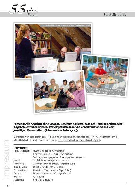 straubinger veranstaltungsführer - Stadtbibliothek Straubing