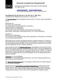 Geschäftsbericht für die Zeit vom 9. Juni 2011 - Deutsch-Israelische ...