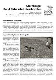Starnberger Bund Naturschutz Nachrichten - Bund Naturschutz in ...