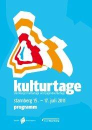 starnberg 15. – 17. juli 2011 programm - Stadt Starnberg