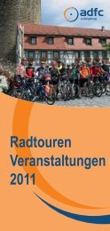 Radtouren Veranstaltungen 2011 - ADFC