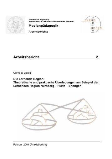 Die Lernende Region Theoretische und praktische Überlegungen ...