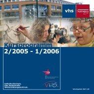 Kursprogramm 2/2005 - 1/2006 vhs - Stadt Solingen