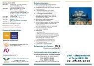 Studienfahrt 4 Tage BERLIN 22.-25.06.2012 - Volkshochschule ...