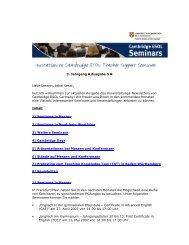 Veranstaltungsnewsletter April 2007 - Cambridge ESOL