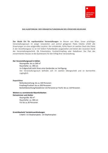 Details zum Auditorium als pdf zum download - Gerstner