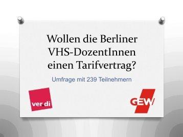 absolut und prozentual - VHS Berlin