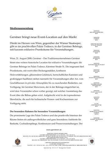 Eine neue Event-Location im Gerstner Portfolio 31072008