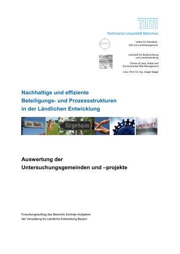und Prozessstrukturen in der Ländlichen Entwicklung Auswertung ...