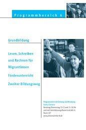 Grundbildung Lesen, Schreiben und Rechnen für Migrantinnen ...