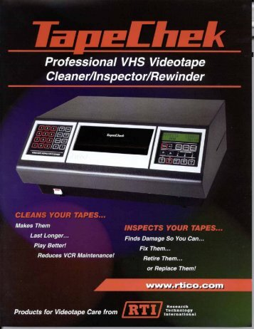 TapeChek 400 Series Sales Brochure - RTI