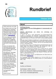 Oktober 2010 Rundbrief - Eine Welt Netzwerk Hamburg eV