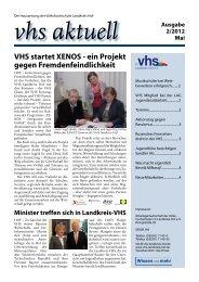 VHS startet XENOS - ein Projekt gegen Fremdenfeindlichkeit