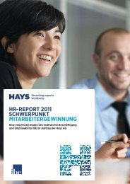 HR-RepoRt 2011 ScHweRpunkt MitaRbeiteRgewinnung - Hays