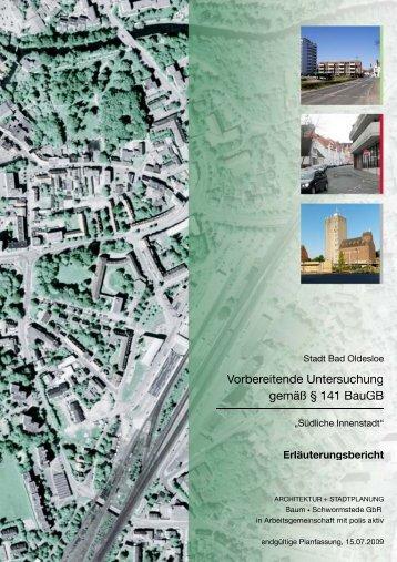 Stadt Bad Oldesloe Vorbereitende Untersuchung gemäß § 141 BauGB