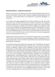 mangelnde Partizipation? - Landesverband der Volkshochschulen ...