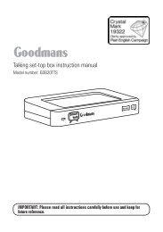 Talking set-top box instruction manual - Switchover Help Scheme
