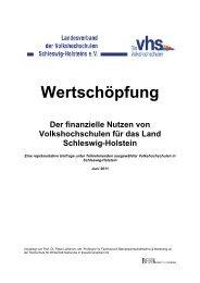 Wertschöpfung - Landesverband der Volkshochschulen Schleswig ...