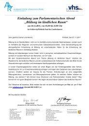 Bildung im ländlichen Raum - Landesverband der ...
