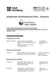 Heidelberger Sicherheitswoche 2010 - Verein Kampf der Droge e.V.