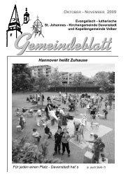 Hannover heißt Zuhause - Ev.-luth. Kirchengemeinde St. Johannes ...