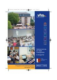 VHS-Specials - Volkshochschule