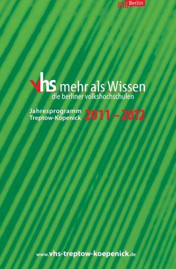 Musterseiten Jahresprogramm VHS Treptow ... - Schock Verlag