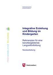 Integrative Erziehung und Bildung im Kindergarten - Agentur für ...
