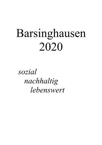 20-seitiges Wahlprogramm SPD Barsinghausen