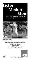 Lister Meilen Stein - SPD-Ortsverein List-Süd