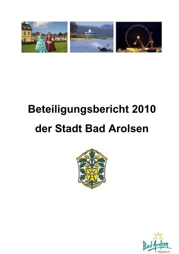Beteiligungsbericht 2010 der Stadt Bad Arolsen