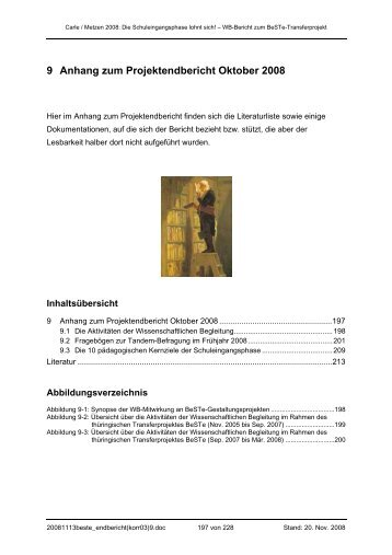 9 Anhang zum Projektendbericht Oktober 2008 - Universität Bremen
