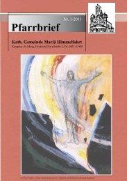 Pfarrbrief 1-2011 - mariae-himmelfahrt-kempten.de
