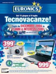 *Offerta valida dal 15/6 al 9/7/2006 salvo ... - Nova Euronics