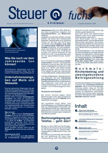 Unternehmensanga - Pirklbauer