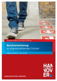 Berufsorientierung - Presseserver der Landeshauptstadt Hannover