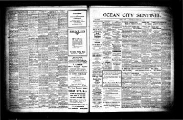 V TttUt MM - On-Line Newspaper Archives of Ocean City