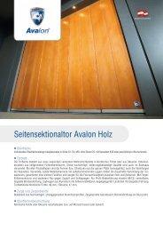 Informationsblatt Avalon Vollholz - Guttomat