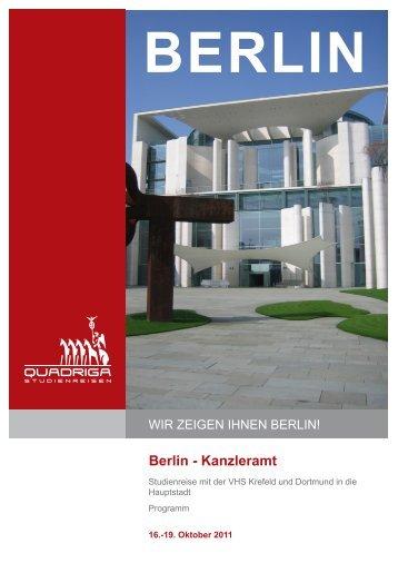 Berlin - Kanzleramt - Quadriga-Studienreisen