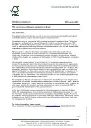 Forest Stewardship Council - FSC Watch