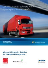 Microsoft Dynamics Solution for Transport Management. - SIEVERS ...