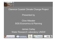 Clive Attwater (SGS Economics and Planning) - Clarence City Council