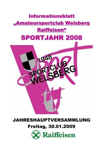 SPORTJAHR 2008 - ASC Welsberg