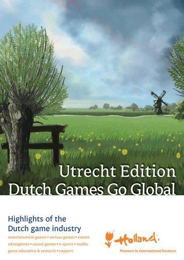 Utrecht Edition Dutch Games Go Global - Invest in Utrecht