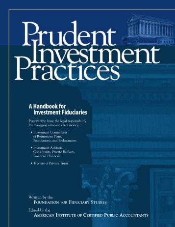 A Handbook for Investment Fiduciaries - Securities and Exchange ...