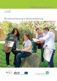 Berufsorientierung in Neubrandenburg RÜM-Befragungen 2011