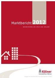 marktbericht 2012 - bei Vieten Immobilien